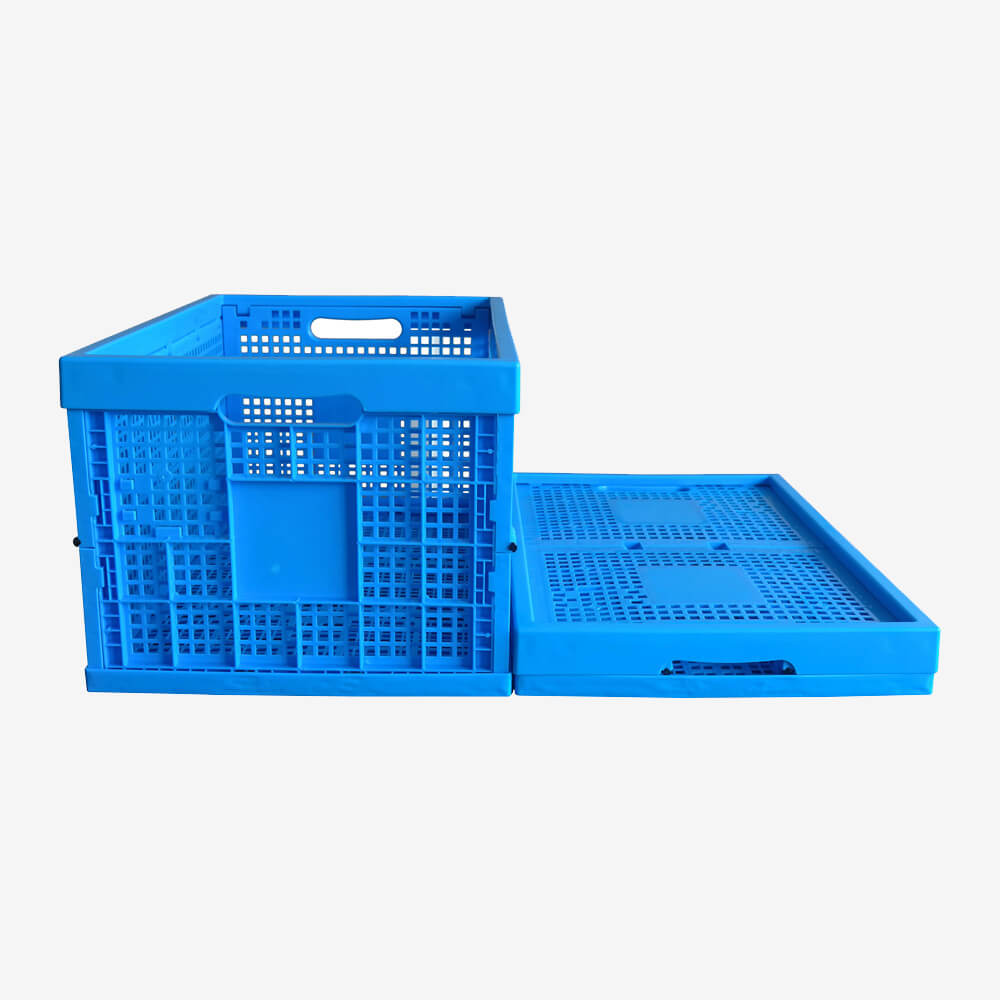 ZJKK604033W-1 fruit and vegetable use PP material vented type plastic collapsible  crate