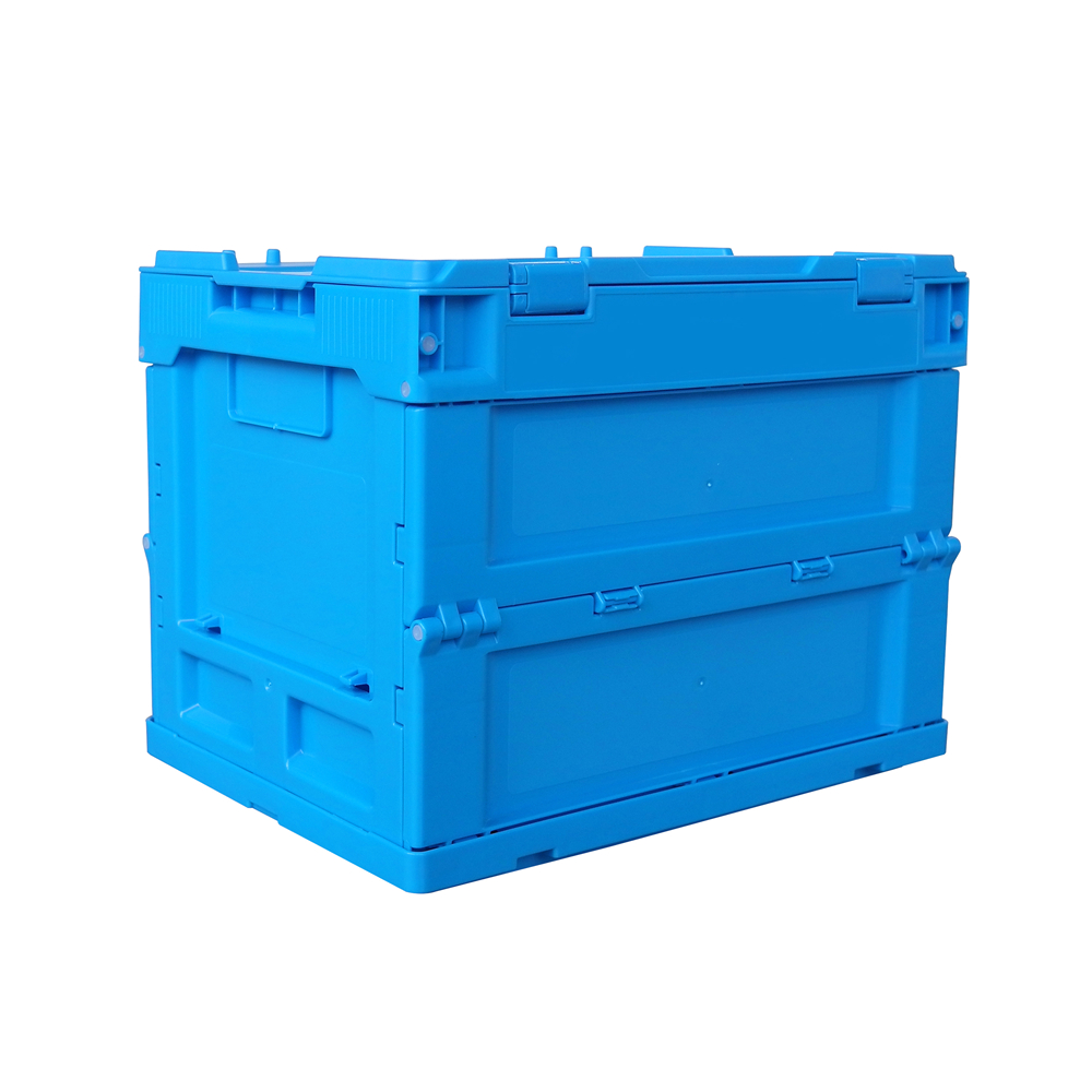 Blue color 20 Liter foldable storage box with lid