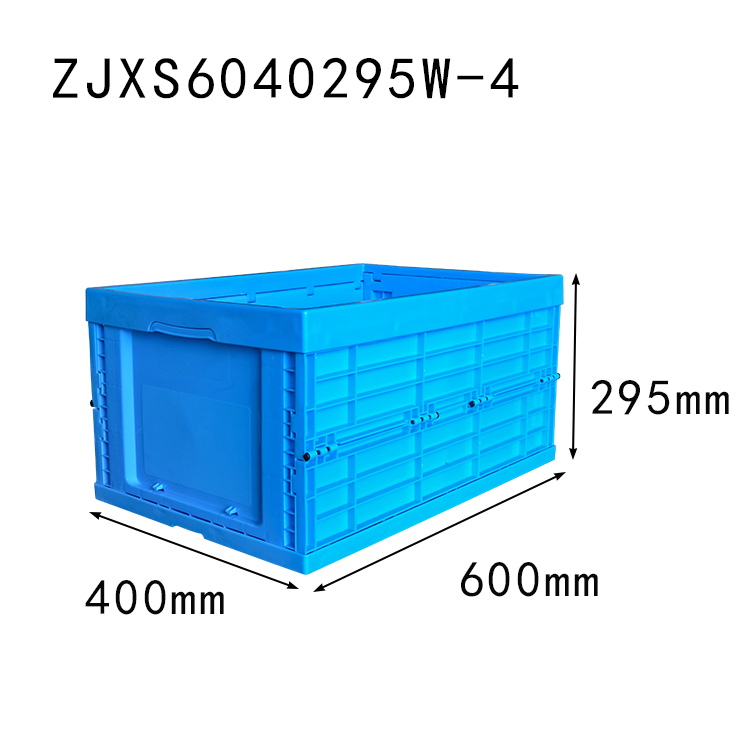 600*400*295 mm collapsible crate without lid plastic foldable storage box and bin
