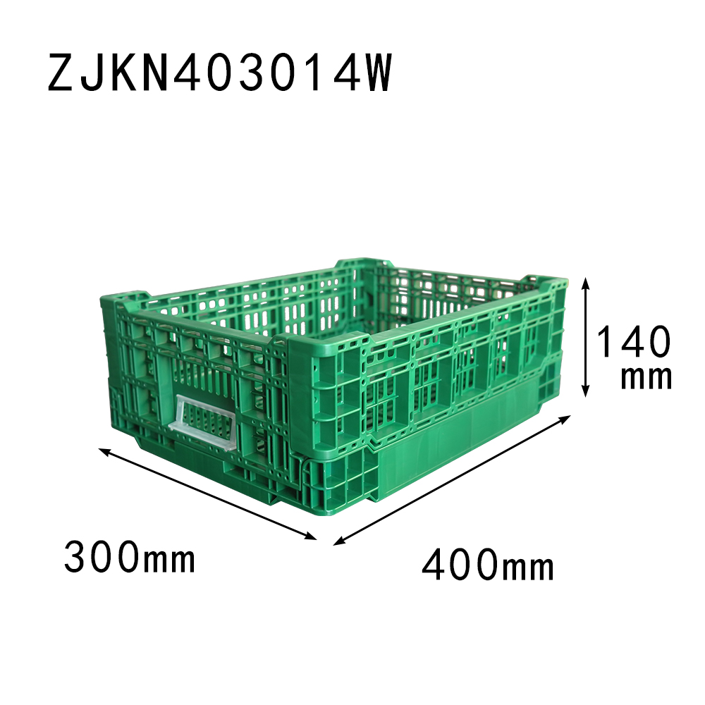 ZJKN403014W PP plastic material collapsible crate for fruit small size basket