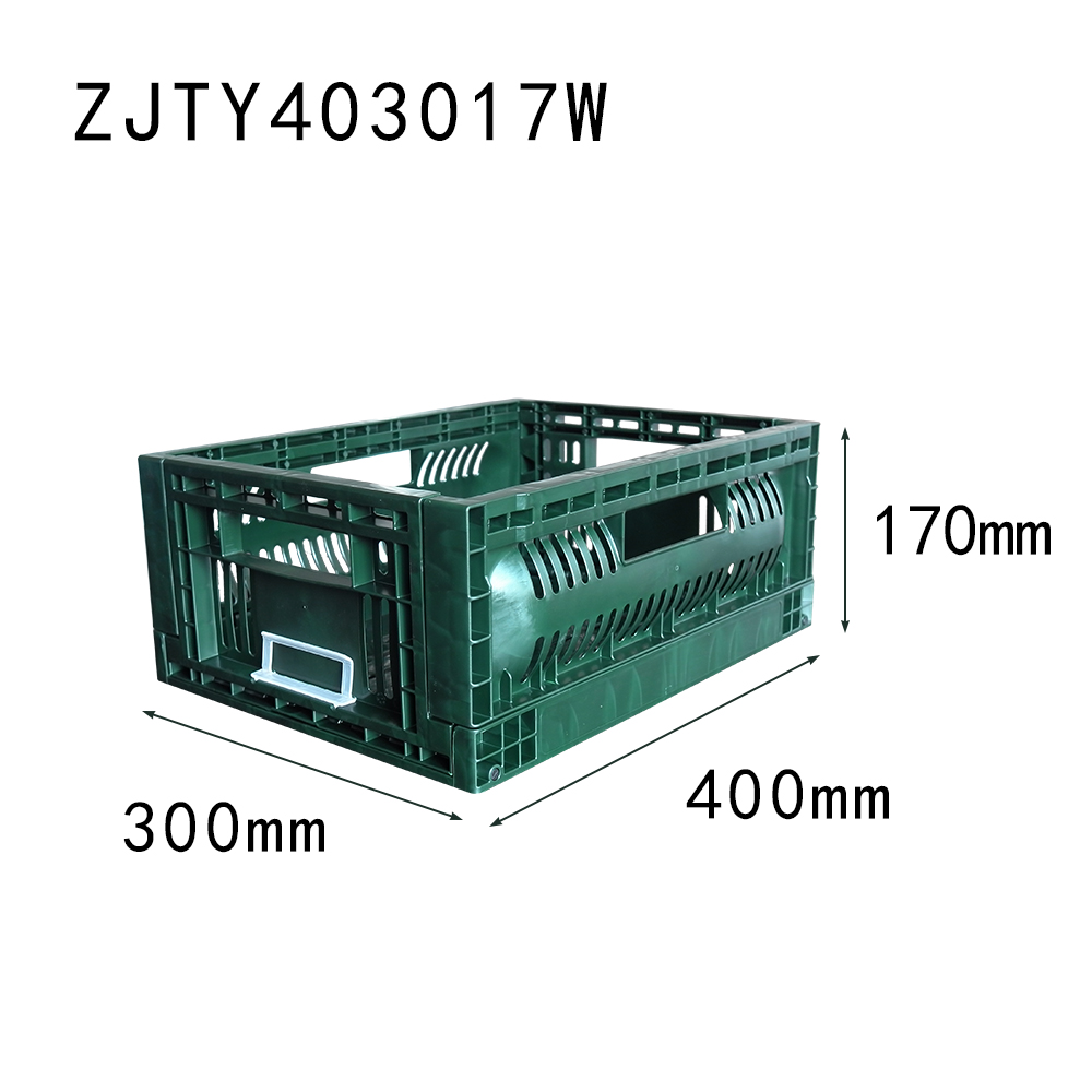 ZJTY403017W small size 400*300*170 mm fruit use crate plastic material vegetable basket