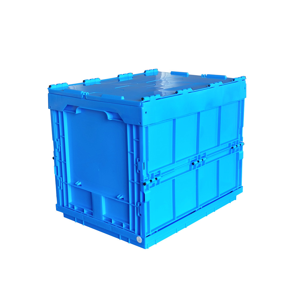 ZJXS4030325C 400*300*325 MM collapsible storage container with lid plastic foldable box
