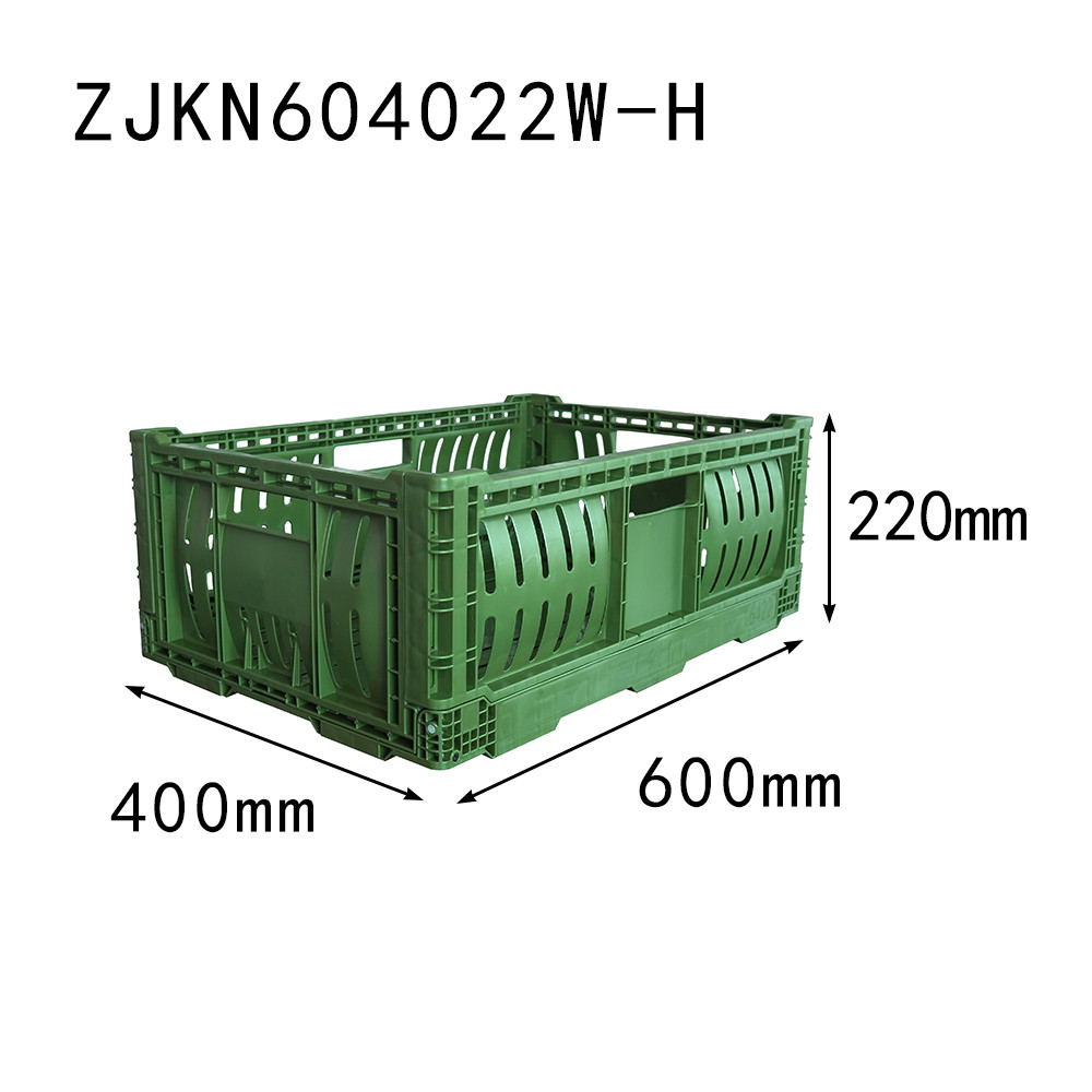 4622 harvest crate foldable plastic fruit crate
