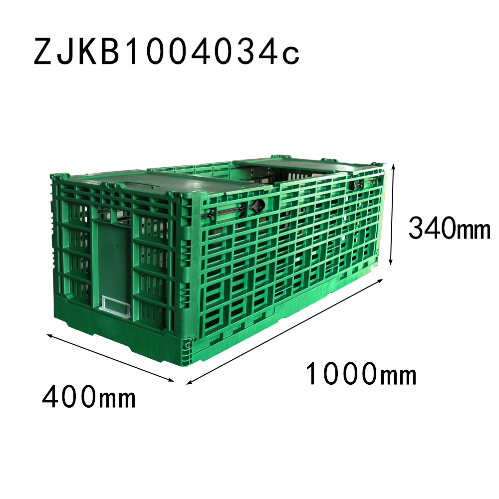 NEW item 1000*400*340mm with top cover collapsible crate fresh flower use box