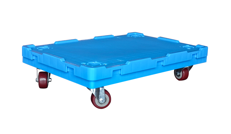 plastic platform moving dolly with universal wheels