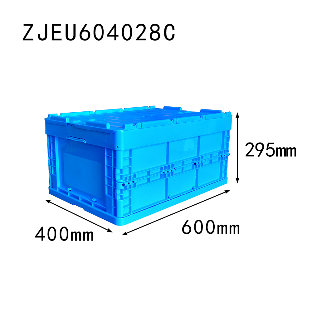 with top cover 600*400*295 mm foldable storage box plastic collapsible crate for auto