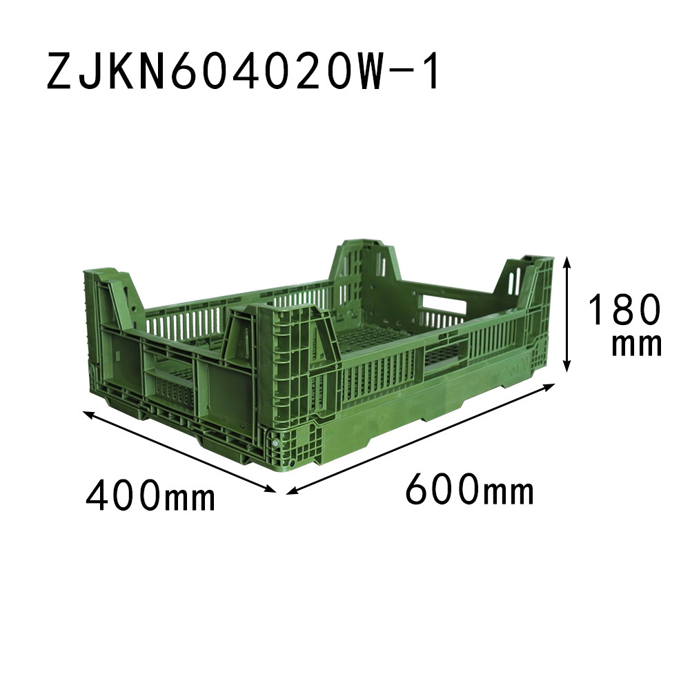 600x400x200 collapsible type plastic folding crate