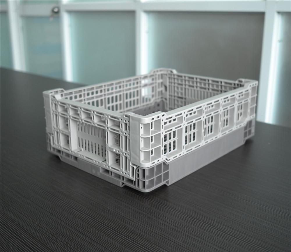 gray color 400x300x140 smart plastic folding baskets