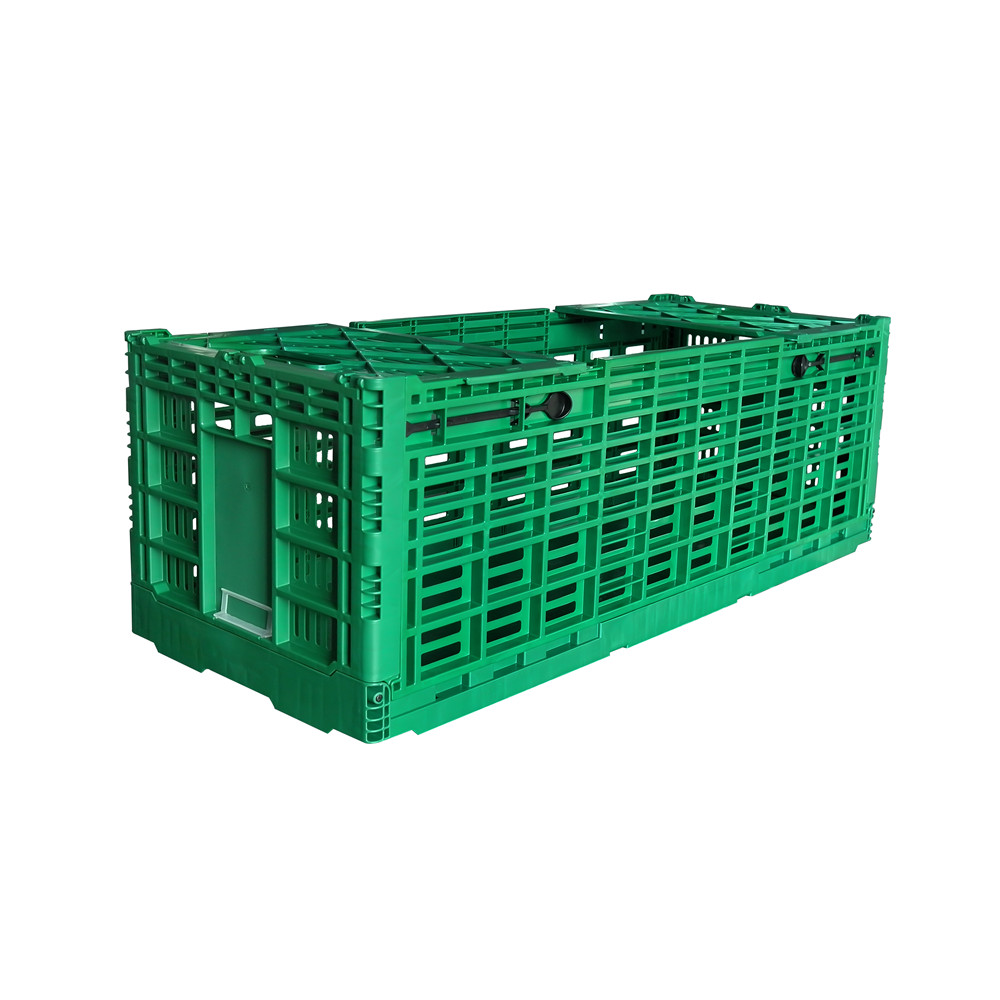 1000x400x340 vented style plastic foldable crate and box for fresh cut flower