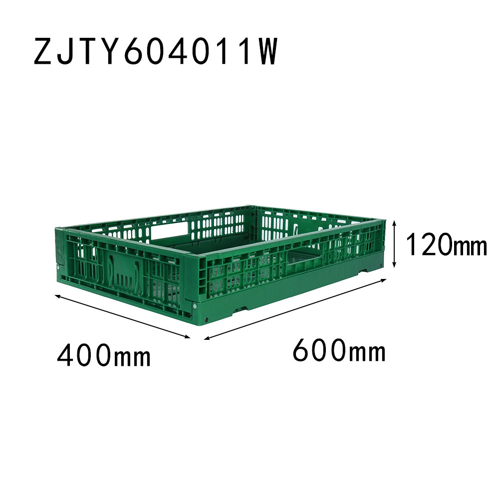 600 x 400 x 120 collapsible fresh box plastic folding crate for fruit