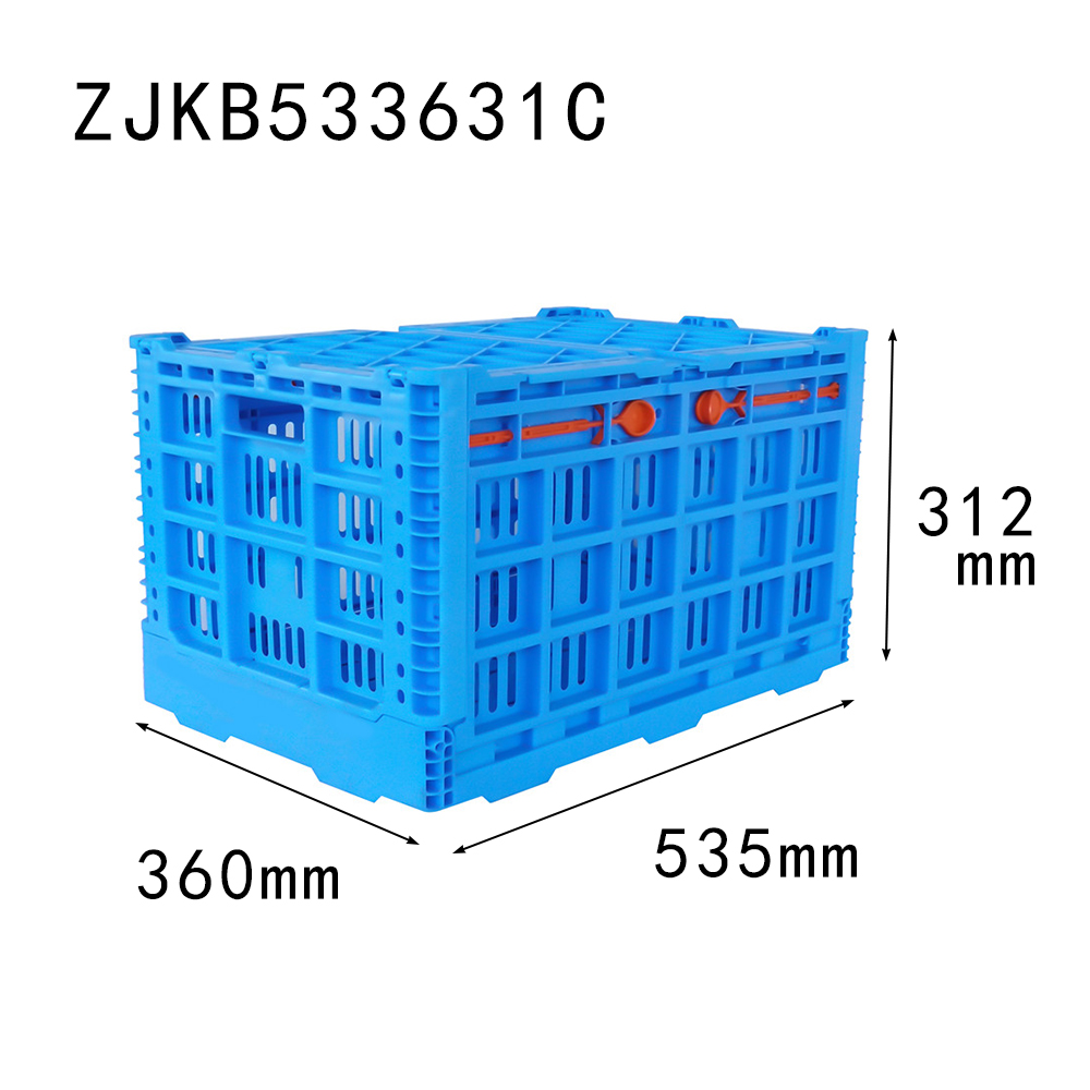 535*360*312 mm apple use plastic folding box collapsible crate