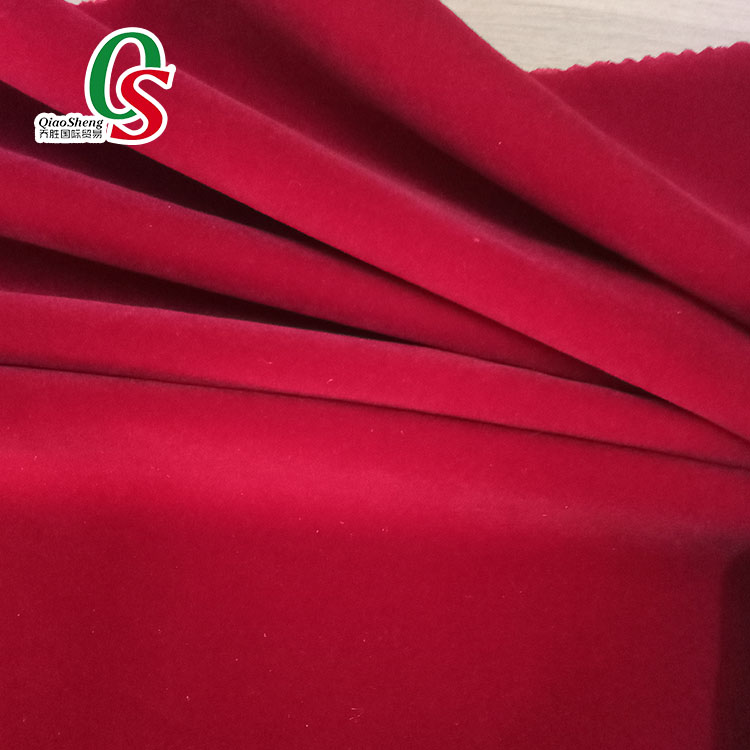 100% nylon breathable velvet flocking fabric for pouch and mattress