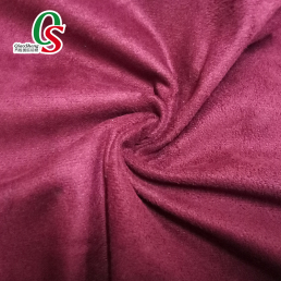 Garment bag material warp knitted cheap synthetic suede fabric