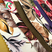 Microfiber warp knitted printed flocked velvet fabric for sofas home textile