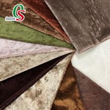 Wholesale polyester upholstery velvet fabric for sofa furniture