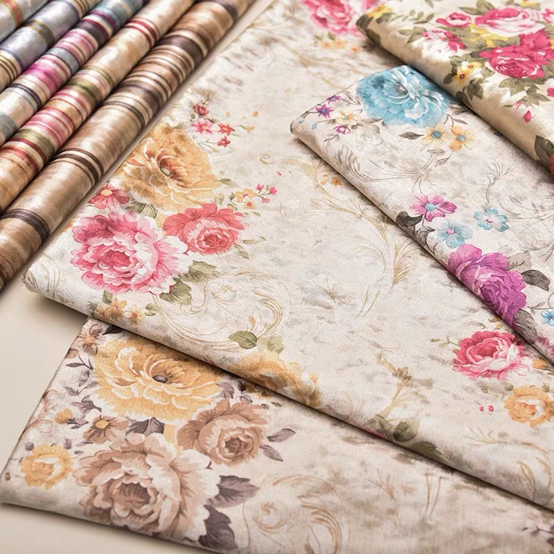 Printing flannel velvet fabric for sofa table cloth