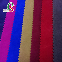 100% polyester knitted double side viscose velvet flocking fabric shoes materials bags fabric