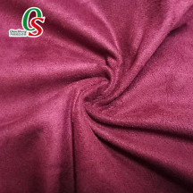 Garment fabric bag shoes material warp knitted cheap synthetic suede fabric