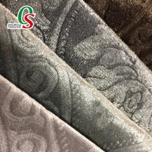 Embossed velvet fabric home textiles for sofa
