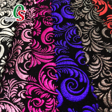 Flocking velvet printing fabric for shoes bags upholstery fabric