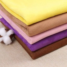 Wholesale new suede warp knitted fabrics polyester flocking processing lining fabrics