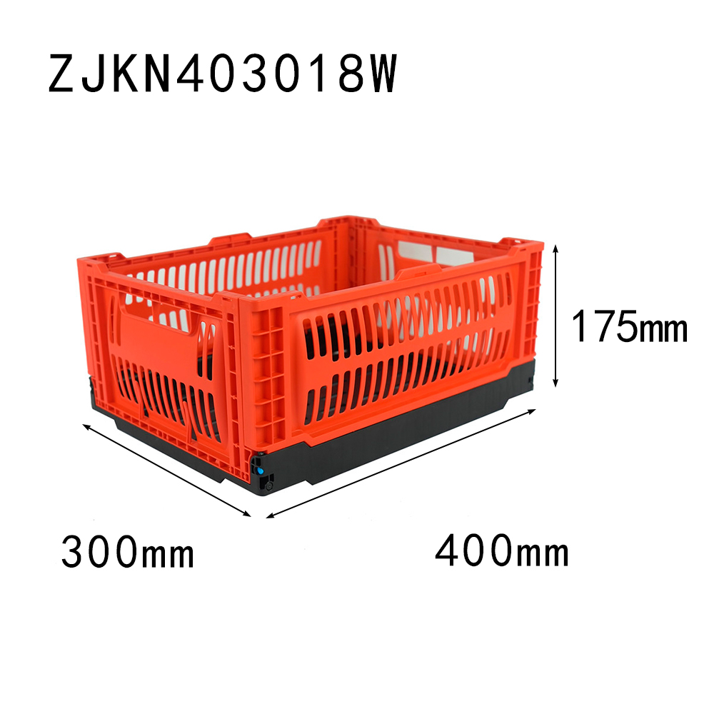 400x300x175MM vented type plastic collapsible crate for fruit and vegetable