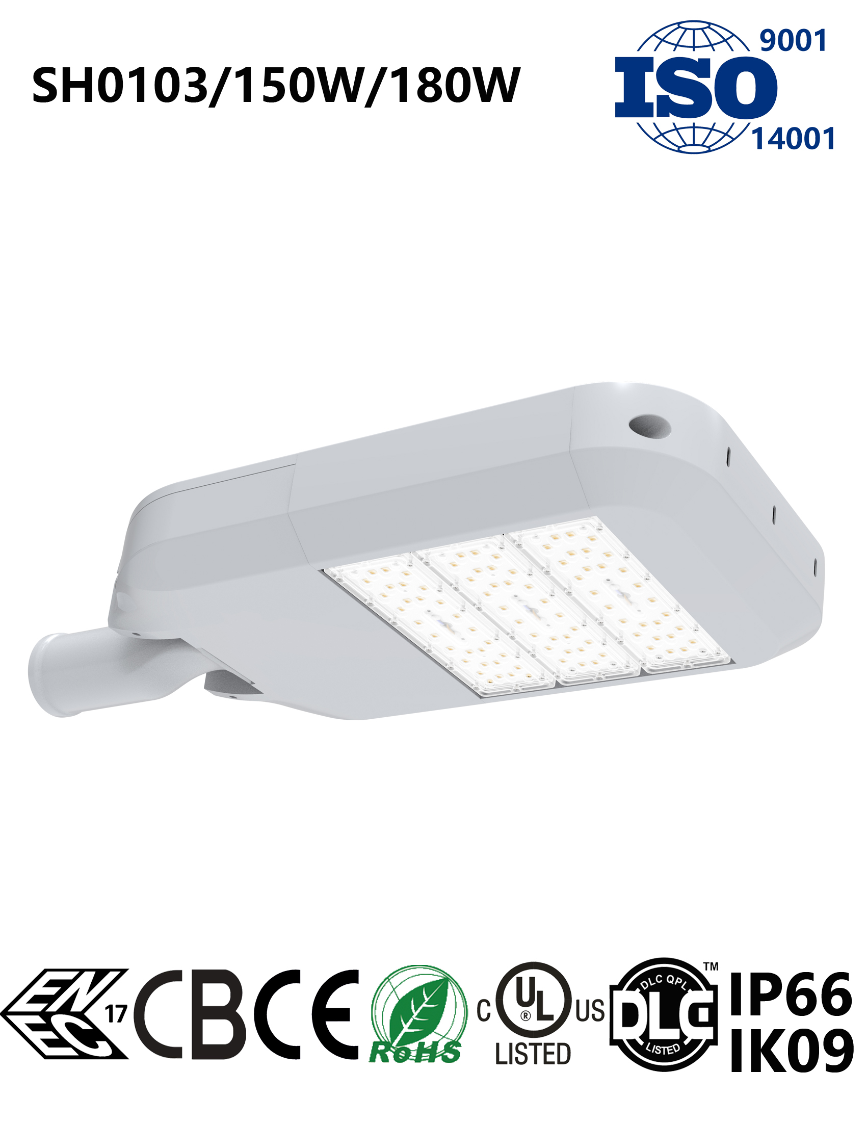 SH0103 150-180W LED Street Light