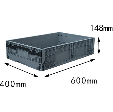600x400x148 mm  plastic foldable box crates and storage bin