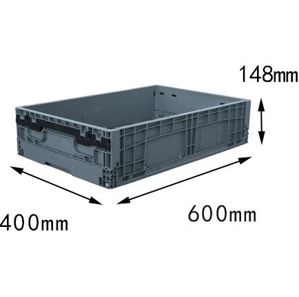 600x400x148 mm  plastic foldable box crates and storage bin