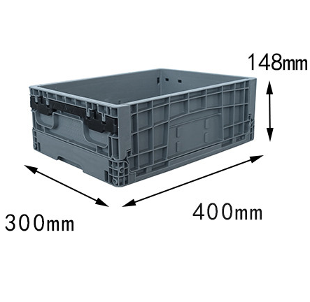 400x300x148 mm small size plastic foldable box bin