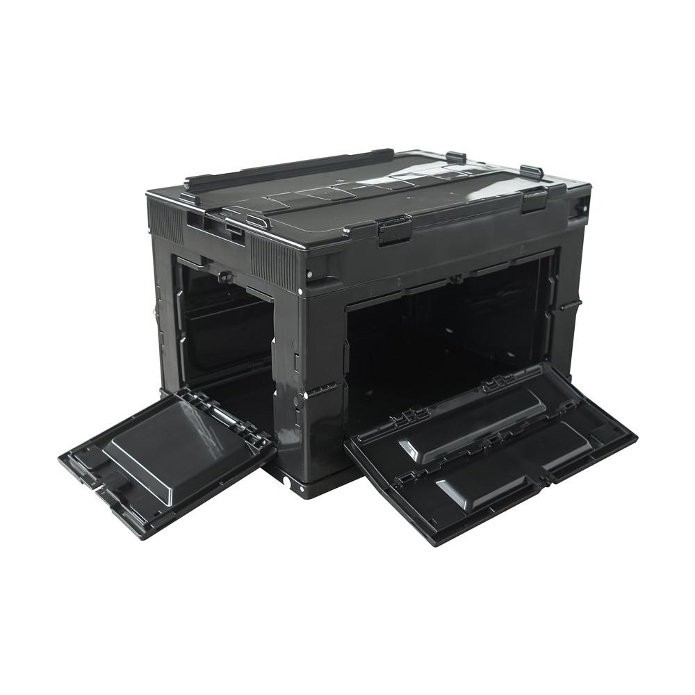 50L front open solid style collapsible folding container camping box