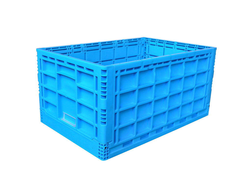 600x400x300 mm  solid box type plastic foldable box crates and storage bin