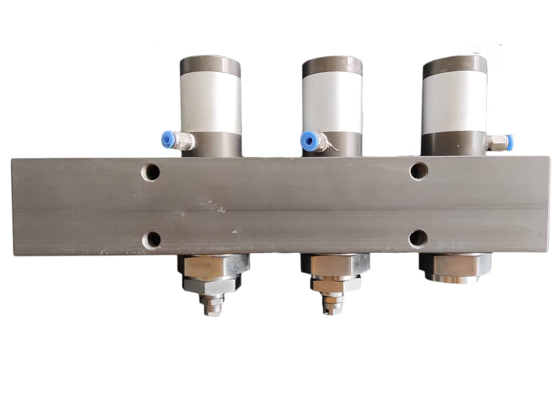 Pneumatic valve group